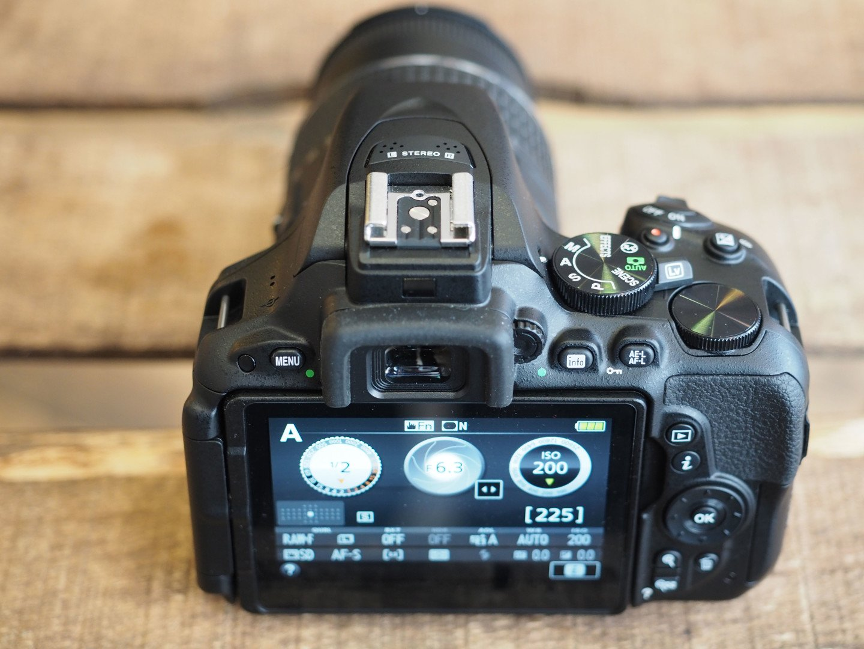 Nikon D5500 herói traseiro