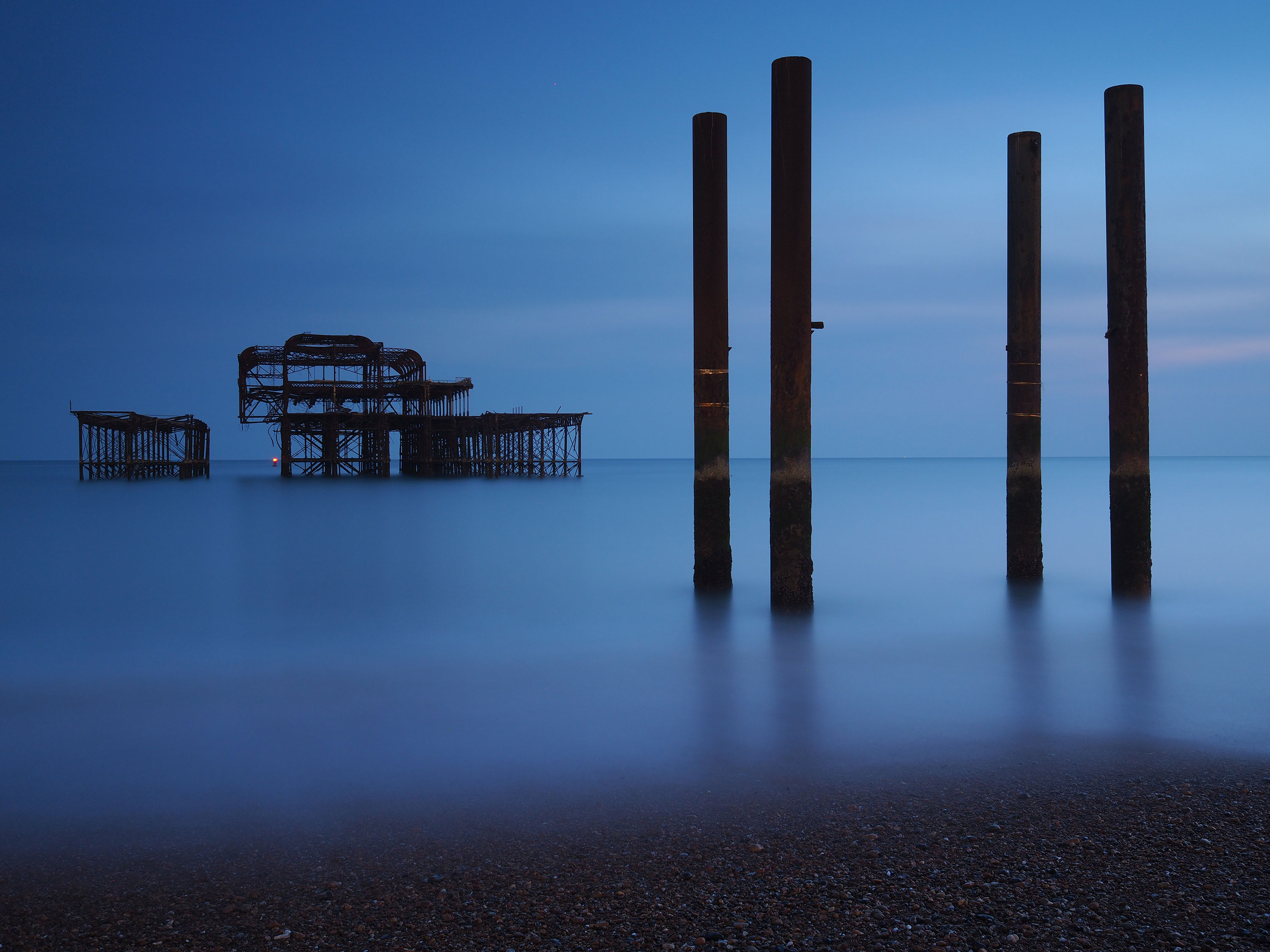Brighton West Pier long exposure
