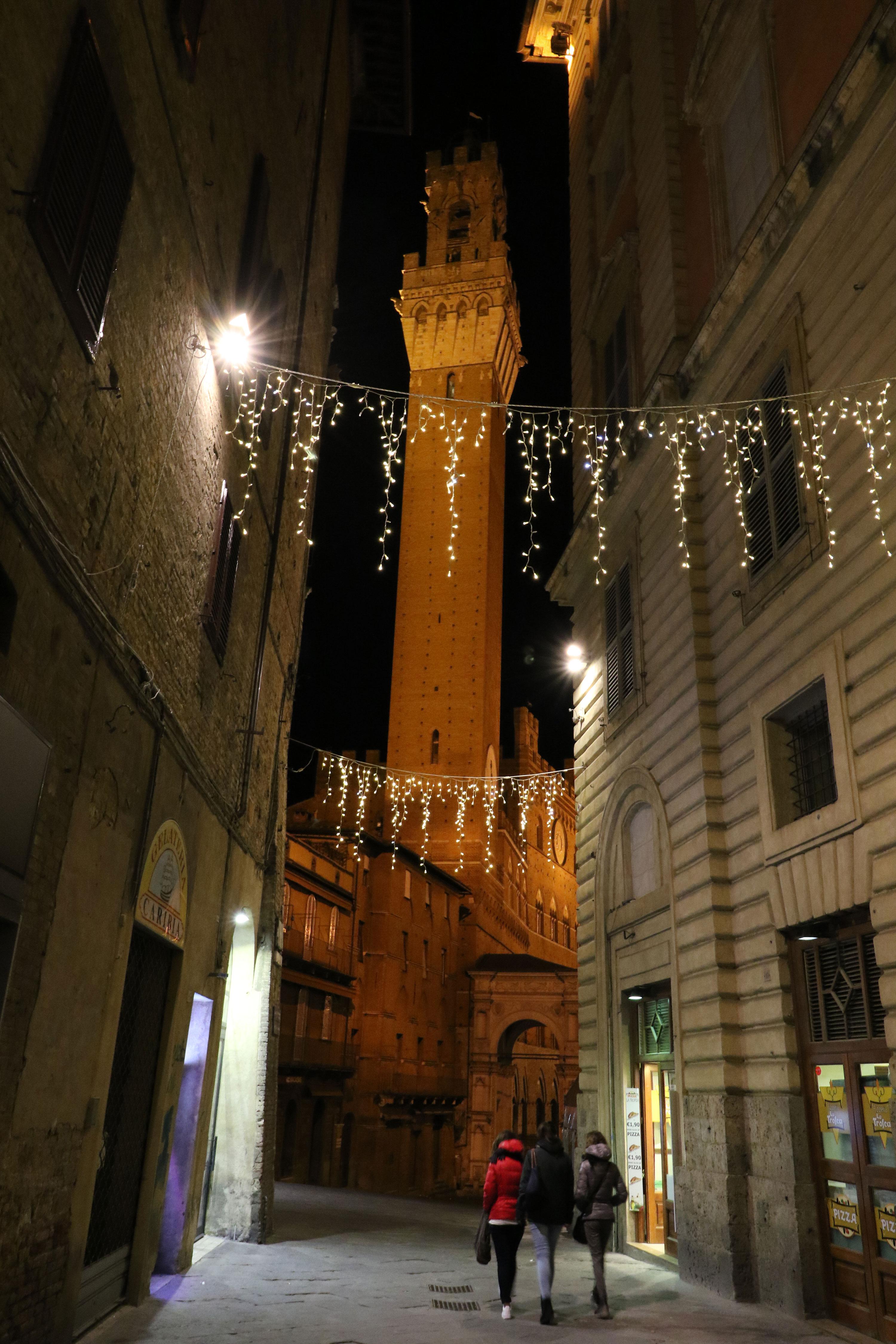 Sienna Tower at night