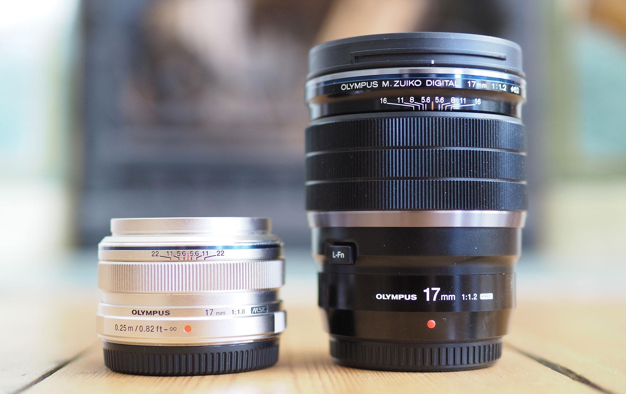 olympus-17mm-f1-8-vs-f1-2