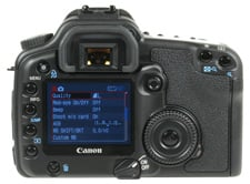 Canon EOS 30D rear view