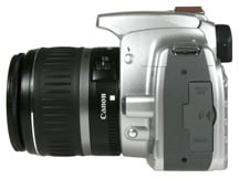 Canon EOS 400D / Rebel XTi left side view