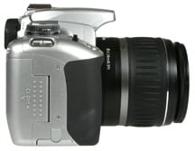 Canon EOS 400D / Rebel XTi right side view
