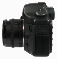 Canon EOS 5D left side view