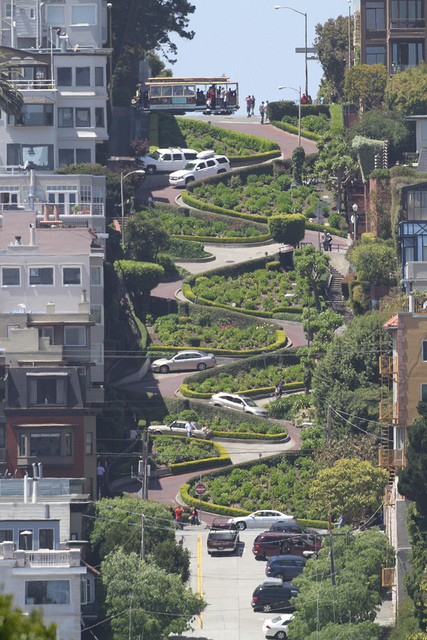 Lombard Street taken with 500mm