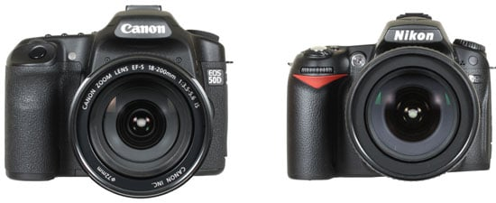 from left: Canon EOS 50D and Nikon D90