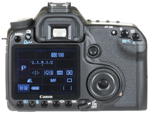 Canon EOS 50D - rear view