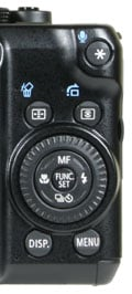 Canon PowerShot G10 - rear controls