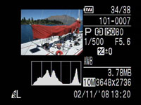 Canon IXUS 870IS / PowerShot SD 880IS - play histogram