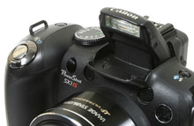 Canon PowerShot SX1 IS - built-in flash