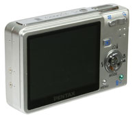 Pentax Optio S6 rear view