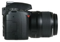 Nikon D40 - right side view