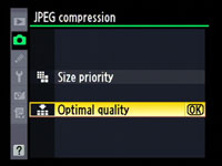 Nikon D300 - JPEG options