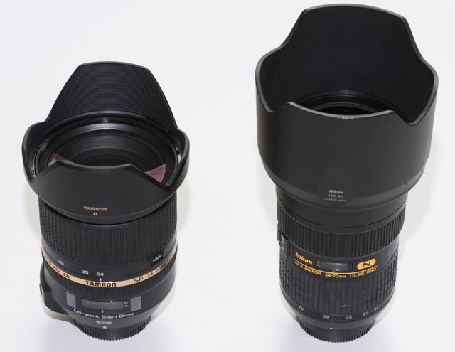 nikon vs tamron 24 70mm f2 8 review cameralabs. Black Bedroom Furniture Sets. Home Design Ideas