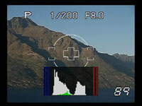 Olympus E410 - live view histogram