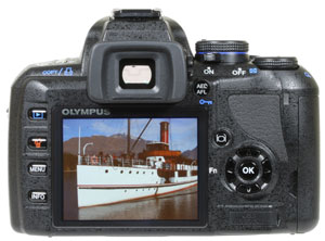Olympus E420 - rear view