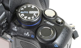 Olympus E420 - top right controls