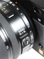 Panasonic L1 aperture ring