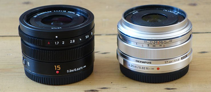 Leica 15mm f1.7 and Olympus 17mm f1.8