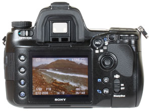 Sony A900 - rear view