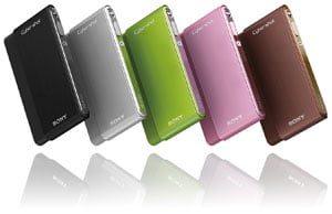 Sony Cyber-shot DSC-T77 - five colours